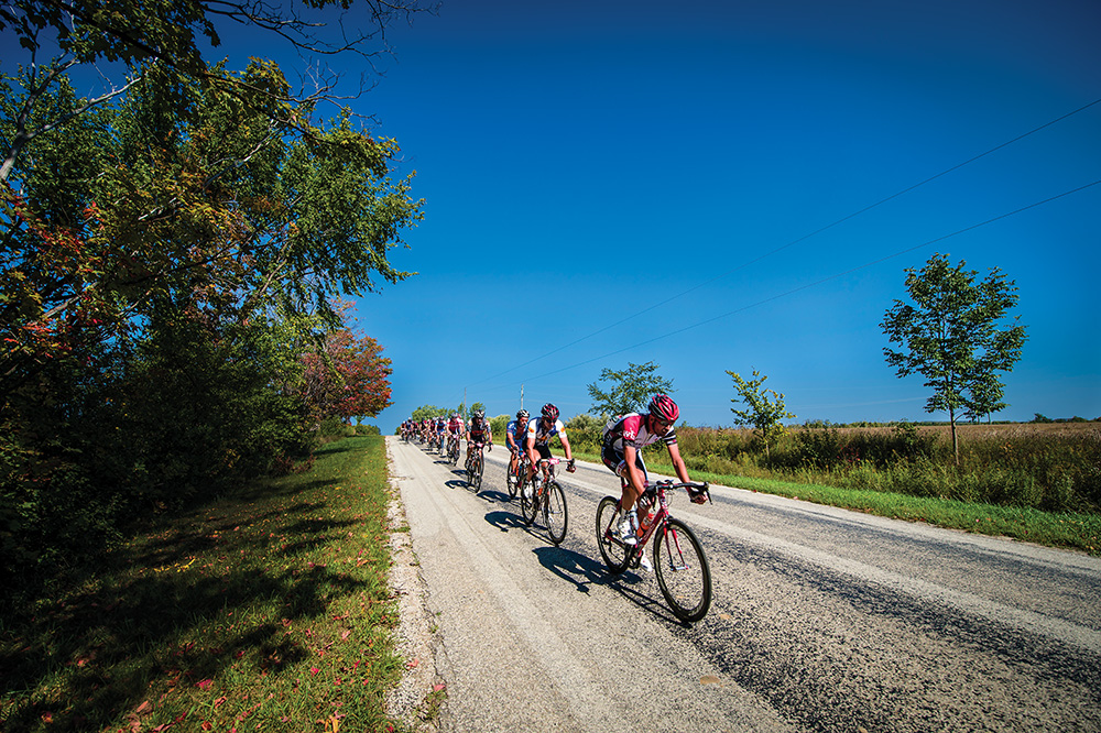 Thousands of cyclists from across Canada take to the roads in The Blue Mountains for a weekend each September as part of the Centurion Cycling race and ride.