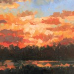 Britt Sunset, 8 x 10 inches