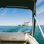 Summerbound Tours' 25-foot pontoon boat serves as a 360-degree platform to view the Escarpment and the Bay.