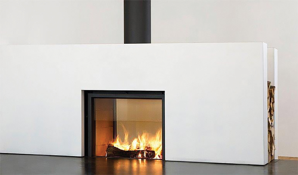 Fire it up on the bay magazine for Open sided fireplace