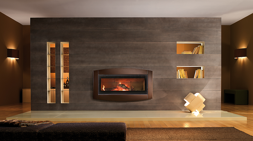 His Wood Burning Fireplace From Town U0026 Country Luxury Fireplaces Is The  First Linear Wood