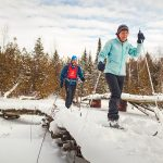 Cathy Smart and Stephen Couchman ski the Kolapore Uplands Wilderness Ski Trails – 50 kilometres of marked trails primarily designed for intermediate to advanced cross-country skiers.