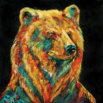 Cinnamon Bear, 60x60 inches