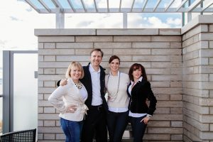 The team at Properties by HER, left to right: Lara Kalins, Mark Beadle, founder Christina Herauf and Tracy Feltham.