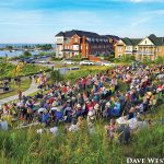 PHOTO BY DAVE WEST - The Shipyards Amphitheatre, a community park located at the north end of Maple Street, draws crowds to the waterfront to watch musical and theatrical performances.