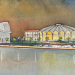 "Wiggins' concept for what he calls ""Harbour Island"" would see the Terminals torn down to make way for a world-class arts and convention centre."