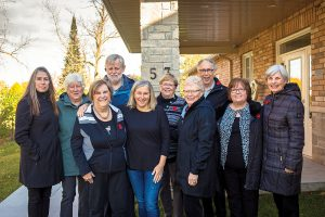 The Home Horizon board, l-r: Karen Erickson, Barb Thompson, Margaret Adolphe, John Devries, Joan Schatz, Kathy Jeffery, Mary Ellen McNaught, Garth Martin, Kathy Benson, Dawn Myers.