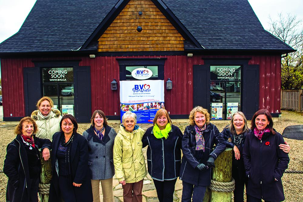 The BVO board, l-r: Marty Lacey, Sandy Auestad, Nicoleta Coldas, Carolyn Letourneau, Norine Baron, Karen Newton-Stewart, Ann Gorton, Kris Wichman, Karen Chisolm. Absent: Cathy Innes, Ann Dyer, Judith Gillman.