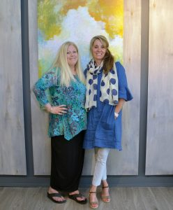 Suzanne Steeves and Andrea Rinaldo, new owners of Creemore's Mad & Noisy Gallery.