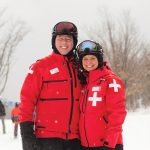 Mike and Jen Scholte have been ski patrollers at Blue Mountain Resort on and off for 12 years.