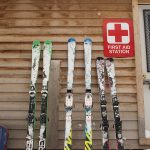 The ski patrol hut and first aid station at Blue Mountain Resort