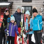 The Park family ready for a day of skiing (middle). From left to right: Jack, Béatrice, Jason, Madeleine, Marie-Claude.