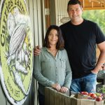 Candice and Chris Currie took over the farm and market from Chris's dad, Alvin, seven years ago.