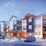 The latest addition to the highly successful Windfall at Blue Mountain development is Mountain House at Windfall, comprising 230 mountain chalet-style suites ranging in size from 673 to 1,072 square feet, housed in 12 mid-rise buildings next door to Scandinave Spa.