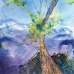 "Martha Bull – ""Tree Series 1,"" 24 x 30 inches, watercolour on canvas"